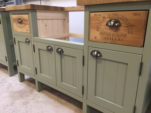 Sink units with cupboards & drawers